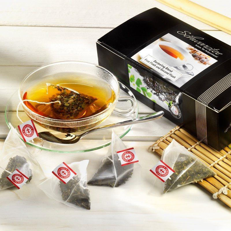 Schrader Teebeutel Schwarzer Tee Darjeeling First und Second Flush Blend