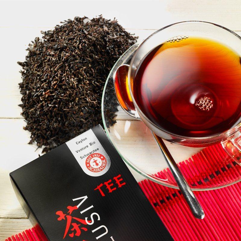 Schrader Schwarzer Tee Ceylon Greenfield OP Bio