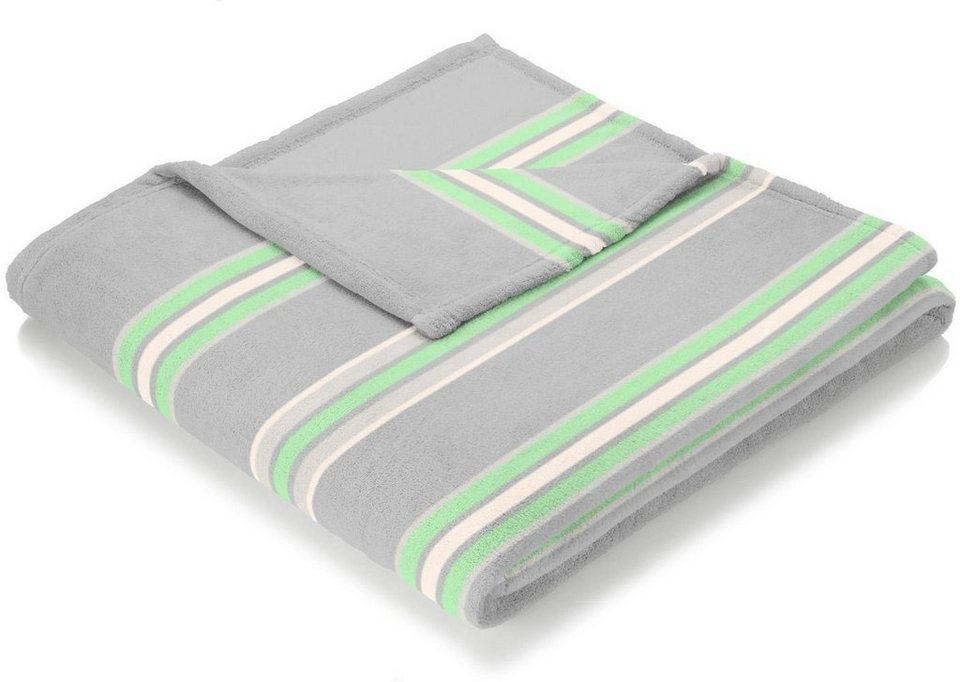 Wohndecke, Biederlack, »Sunny Side«, im Karo Design in grün