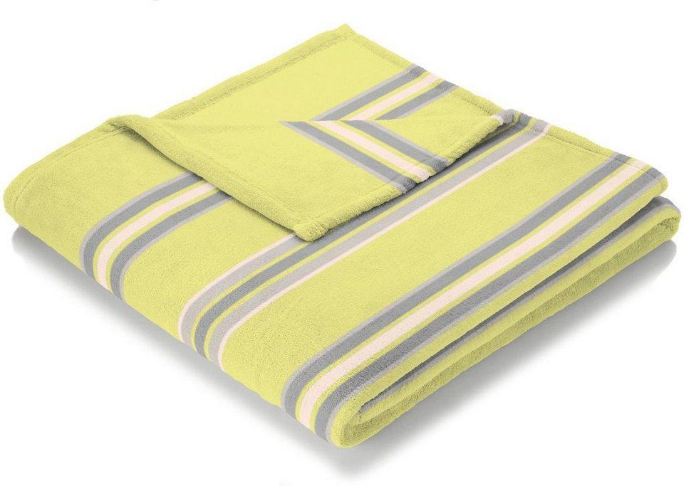 Wohndecke, Biederlack, »Sunny Side«, im Karo Design in gelb