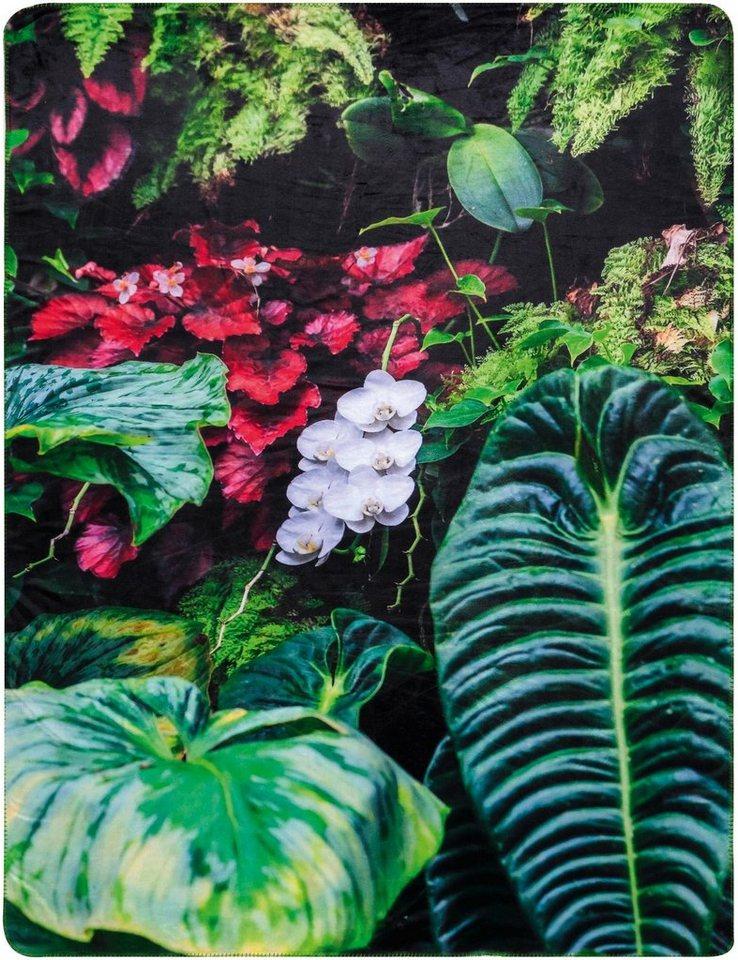 Wohndecke, Biederlack, »Tropical Garden«, im Natur Design in multi