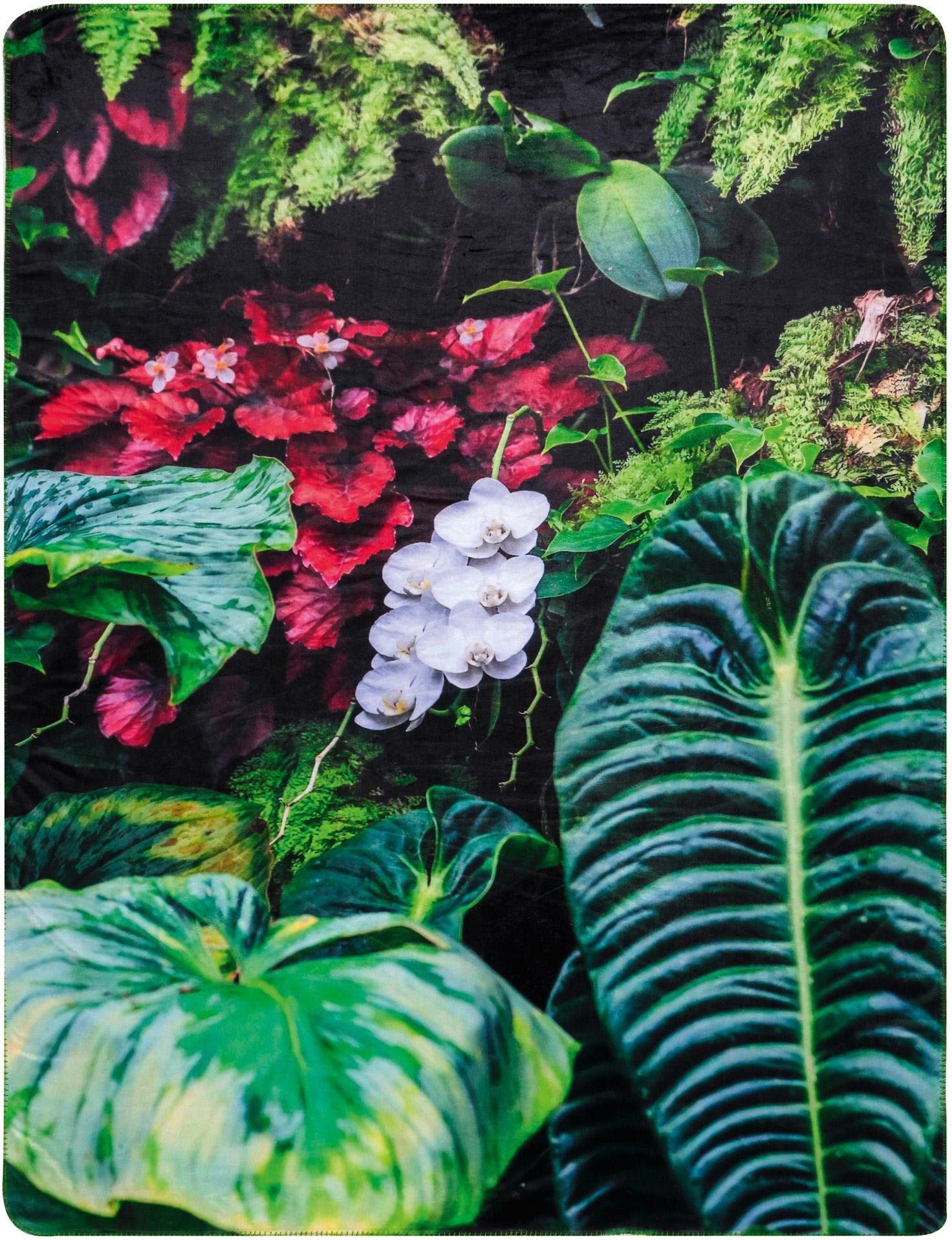 Wohndecke, Biederlack, »Tropical Garden«, im Natur Design