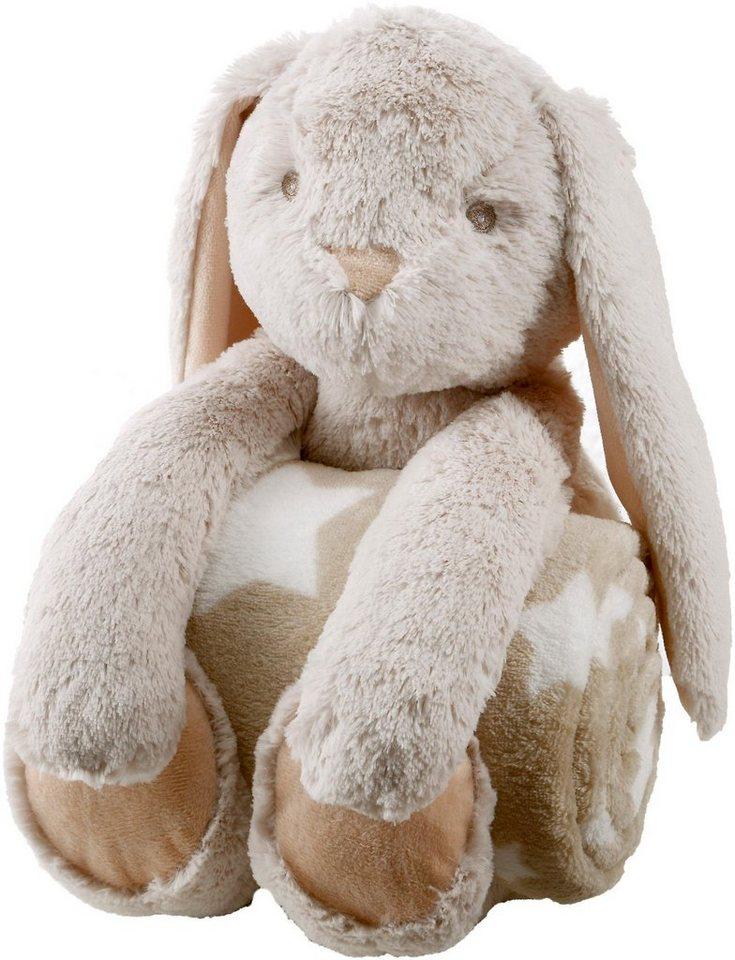 set kuscheltier babydecke biederlack hase mit niedlichen sternen online kaufen otto. Black Bedroom Furniture Sets. Home Design Ideas
