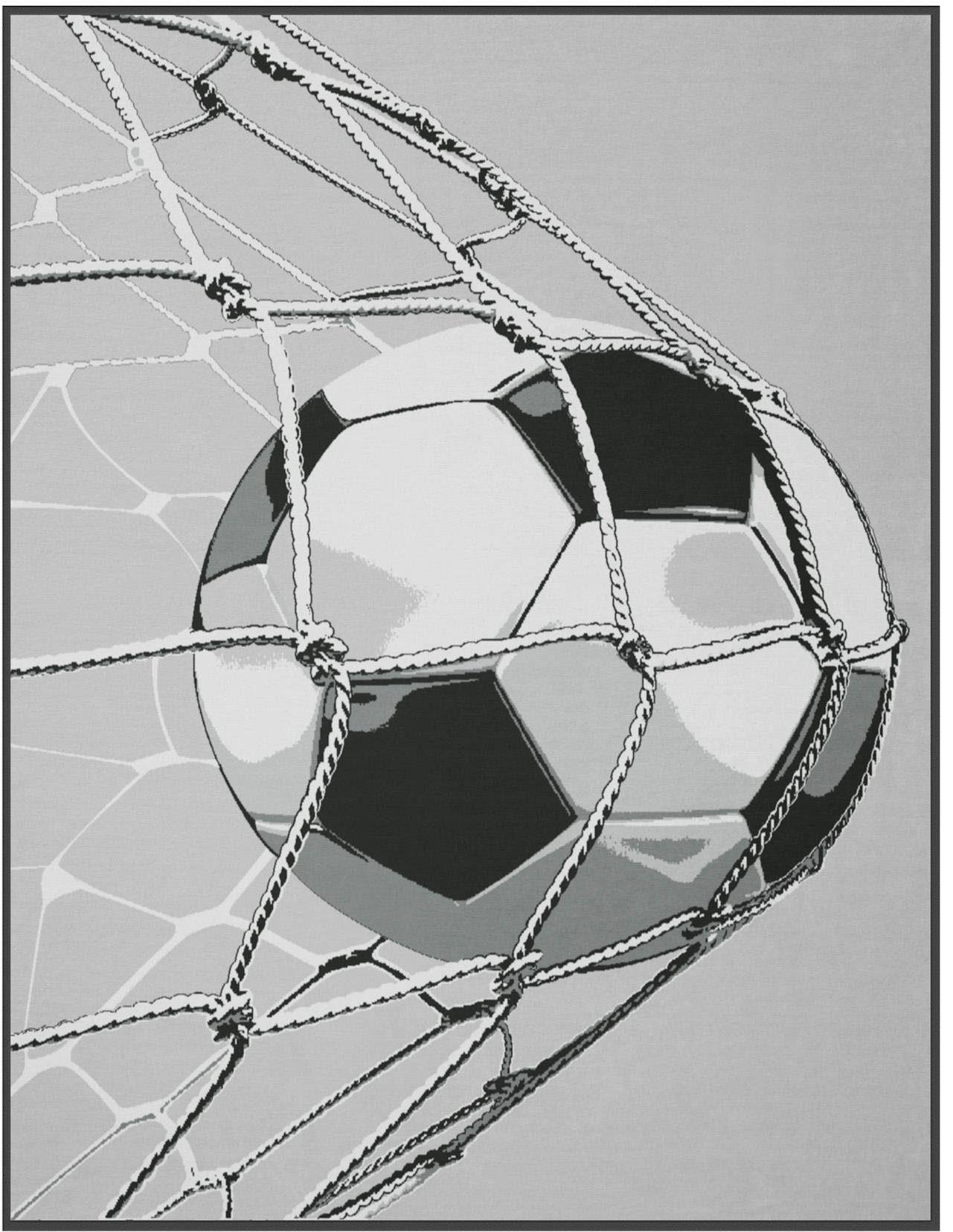 Wohndecke, Biederlack, »Goal«, mit Fußball-Motiv