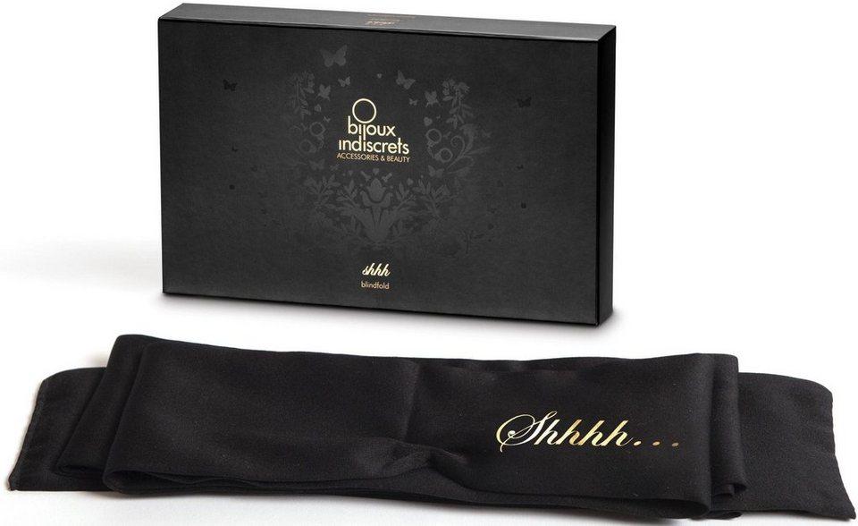 Bijoux Indiscrets Augenbinde mit langer Satinbinde »Shhh Blindfold« in schwarz