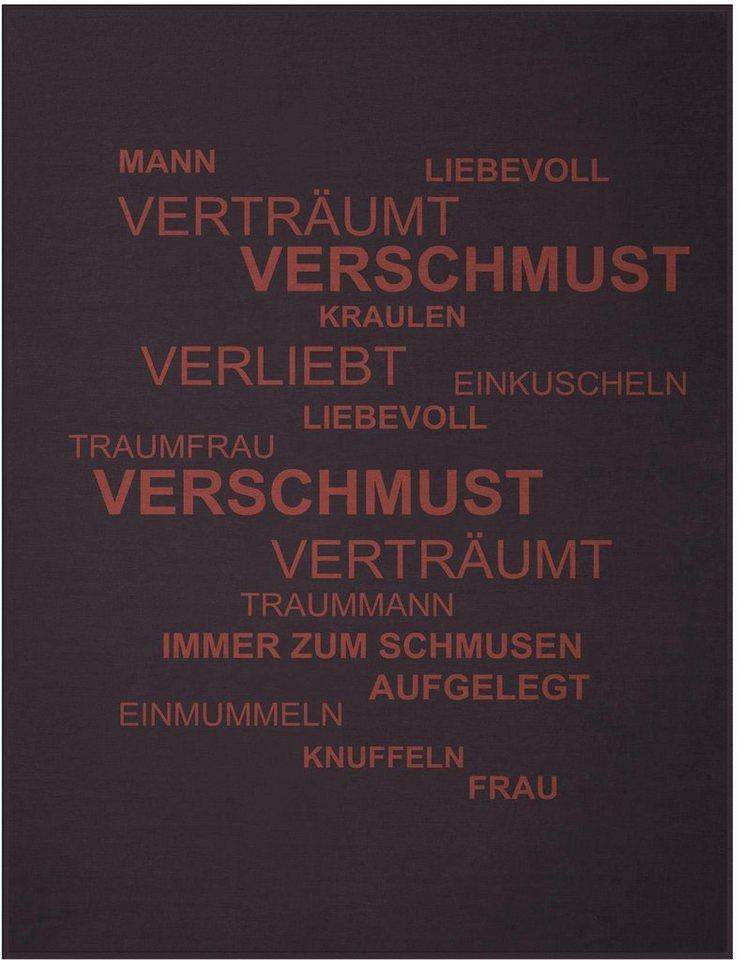 Wohndecke, Biederlack, »Traumfrau«, im coolen Design in rot