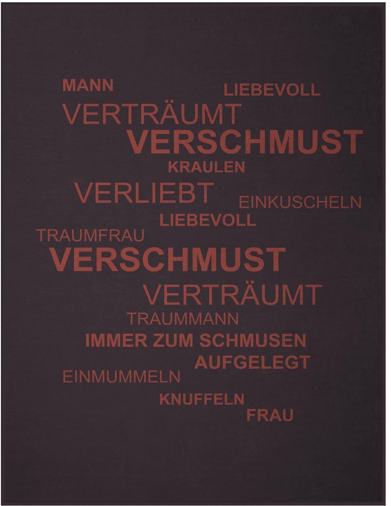 Wohndecke, Biederlack, »Traumfrau«, im coolen Design