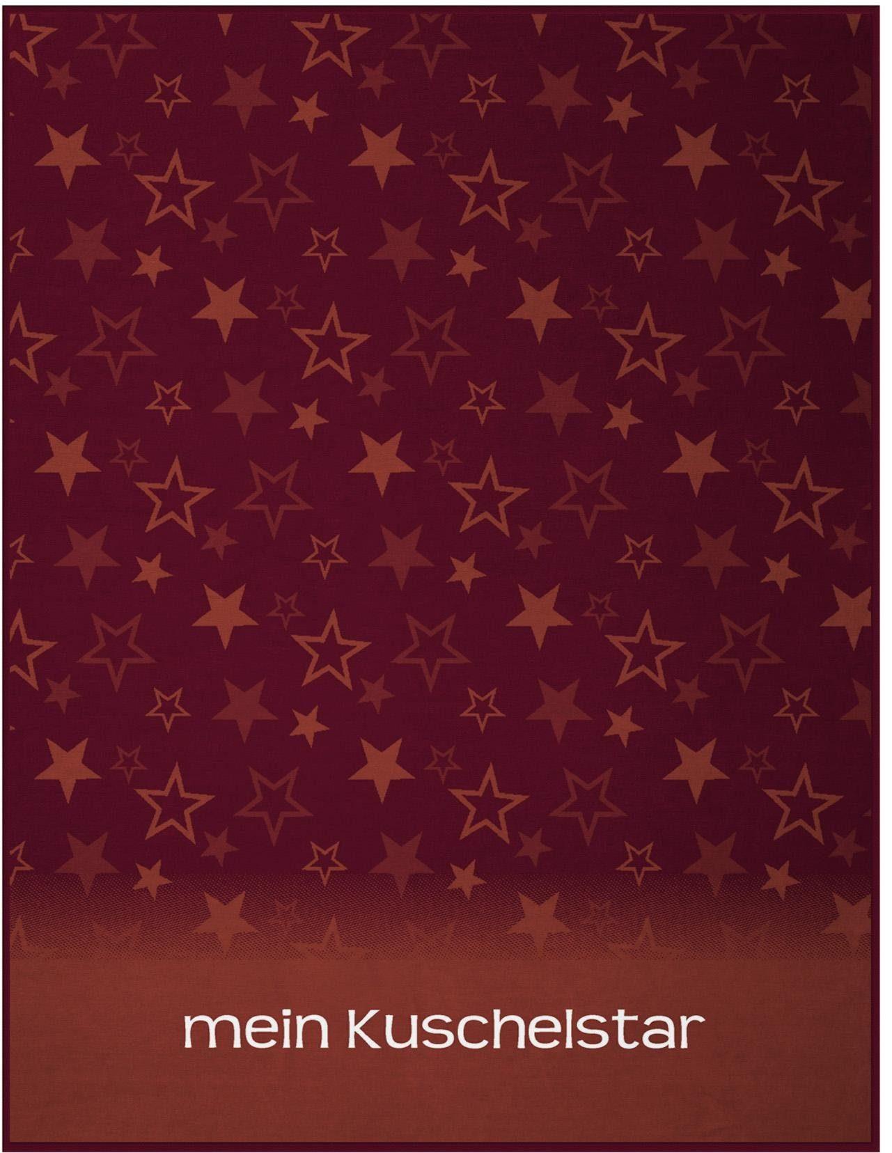 Wohndecke, Biederlack, »Mein Kuschelstar«, mit Sternen verziert
