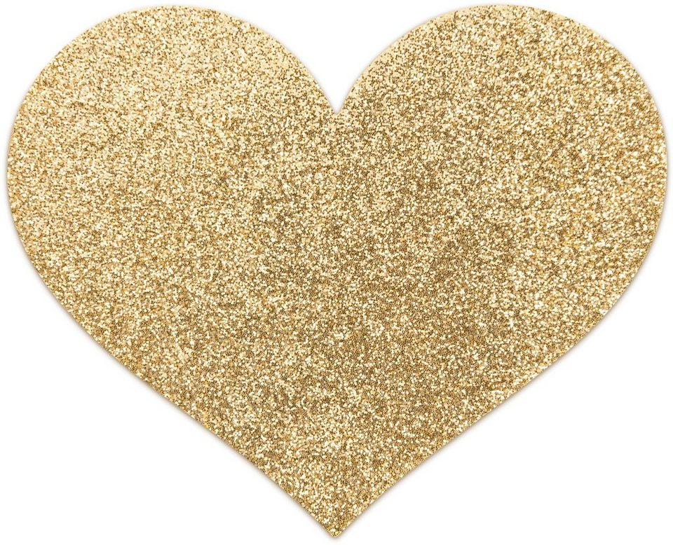 Bijoux Indiscrets Nippelschmuck in Herzform »Flash Heart« (2 Stück) in gold
