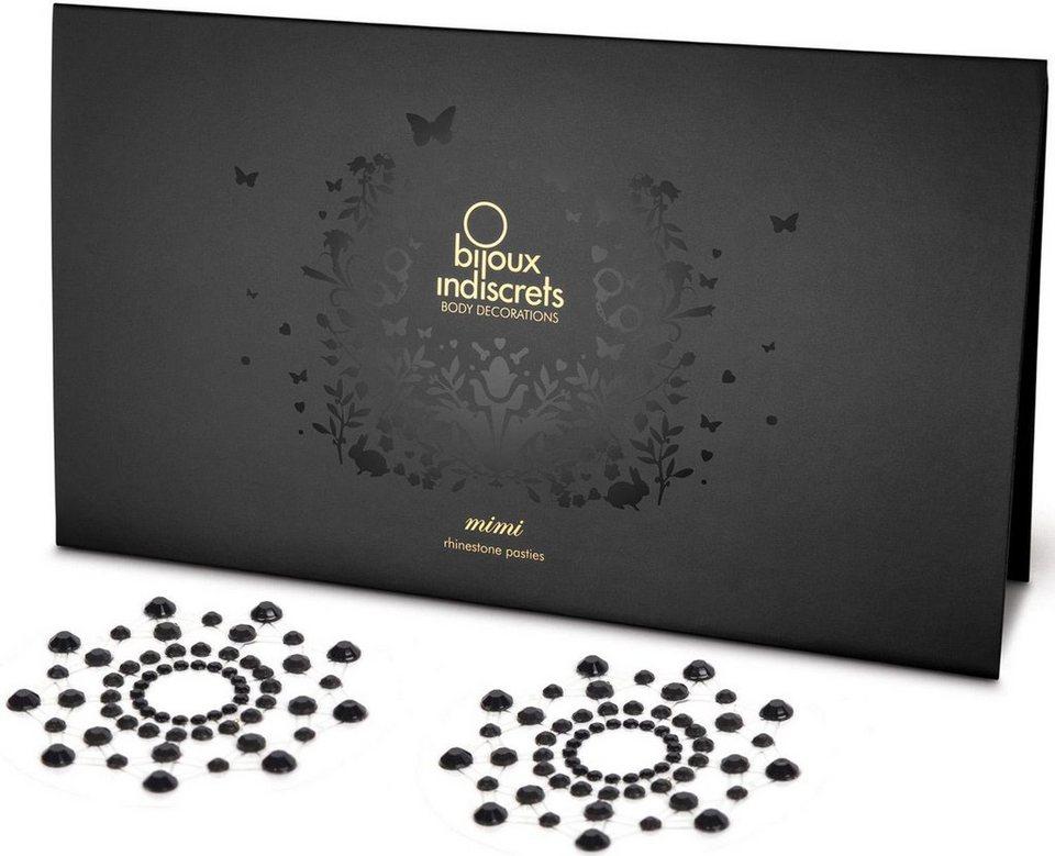 Bijoux Indiscrets Nippelschmuck aus Strasssteinen »Mimi Nipple Covers« in schwarz