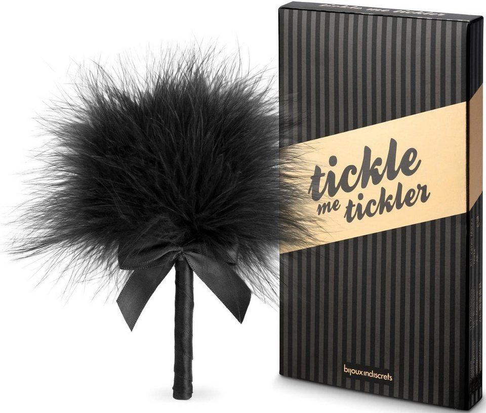 Bijoux Indiscrets Tickler aus samtig-weichen Federn »Tickle me« in schwarz