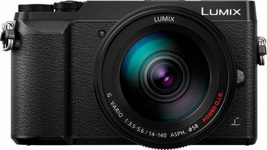 Lumix Panasonic »DMC-GX80HEG-K« Systemkamera (LUMIX G VARIO 14-140mm / F3,5-5,6 ASPH. / POWER O.I.S., 16 MP, WLAN (Wi-Fi), Gesichtserkennung, HDR-Aufnahme)
