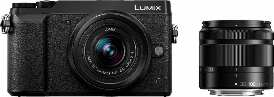 Lumix Panasonic DMC-GX80WEG-K System Kamera in schwarz