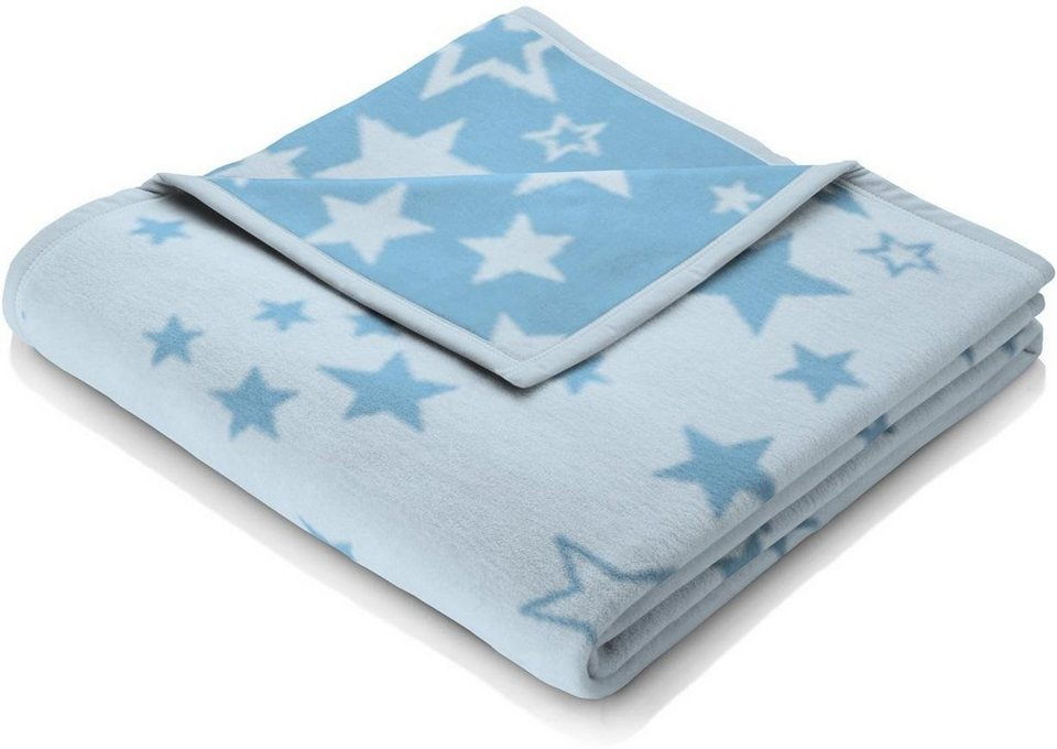 Babydecke, Biederlack, »Sternenzelt«, mit niedlichen Sternen in blau