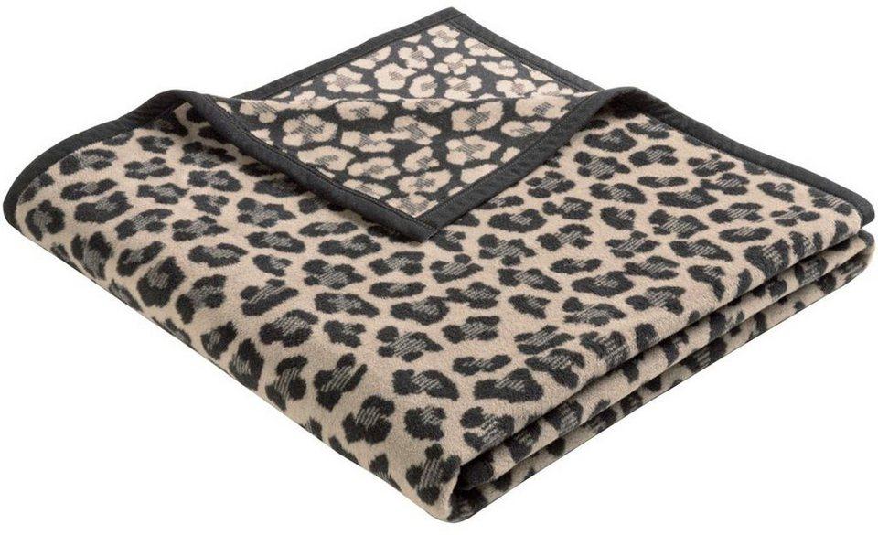 Wohndecke, Biederlack, »Gepard«, in Fell Optik in schwarz-beige