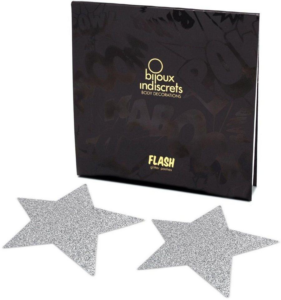 Bijoux Indiscrets Nippelschmuck in Sternform »Flash Star« (2 Stück) in silber