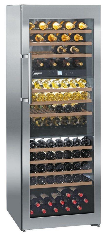 Liebherr Weinkühlschrank WTes 5872-21, A, 192 cm hoch in edelstahl