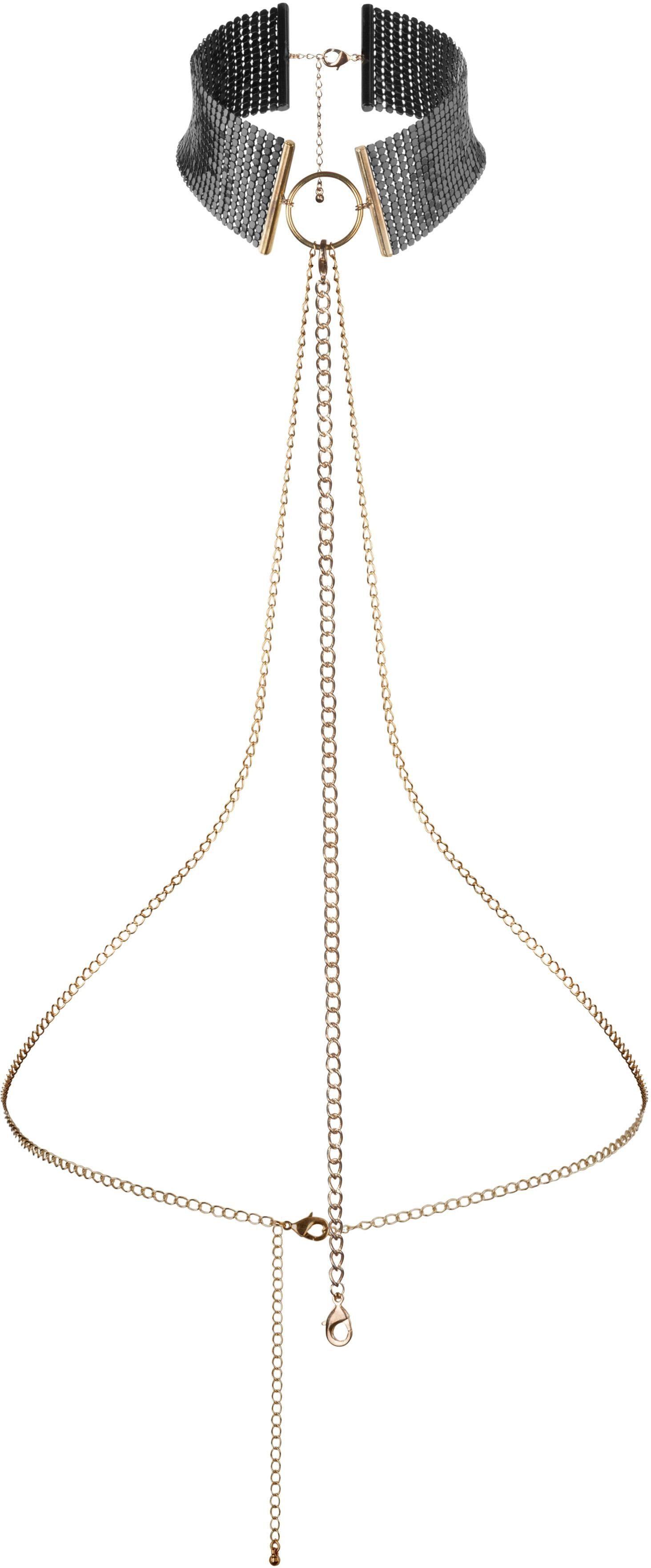 Bijoux Indiscrets Fesseln und Halsband mit Körperkette »Desir Metallique Collar«