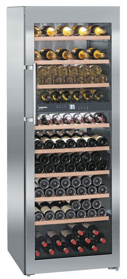 Liebherr Weinkühlschrank WTes 5972-21, A, 192 cm hoch in edelstahl