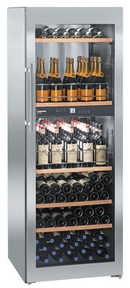 Liebherr Weinkühlschrank WTpes 5972-21, A, 192 cm hoch in edelstahl