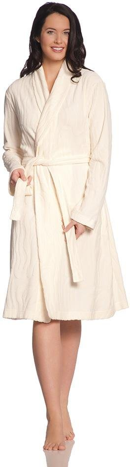 Damenbademantel, Vossen, »Cassandra«, mit dezentem Muster in elfenbein