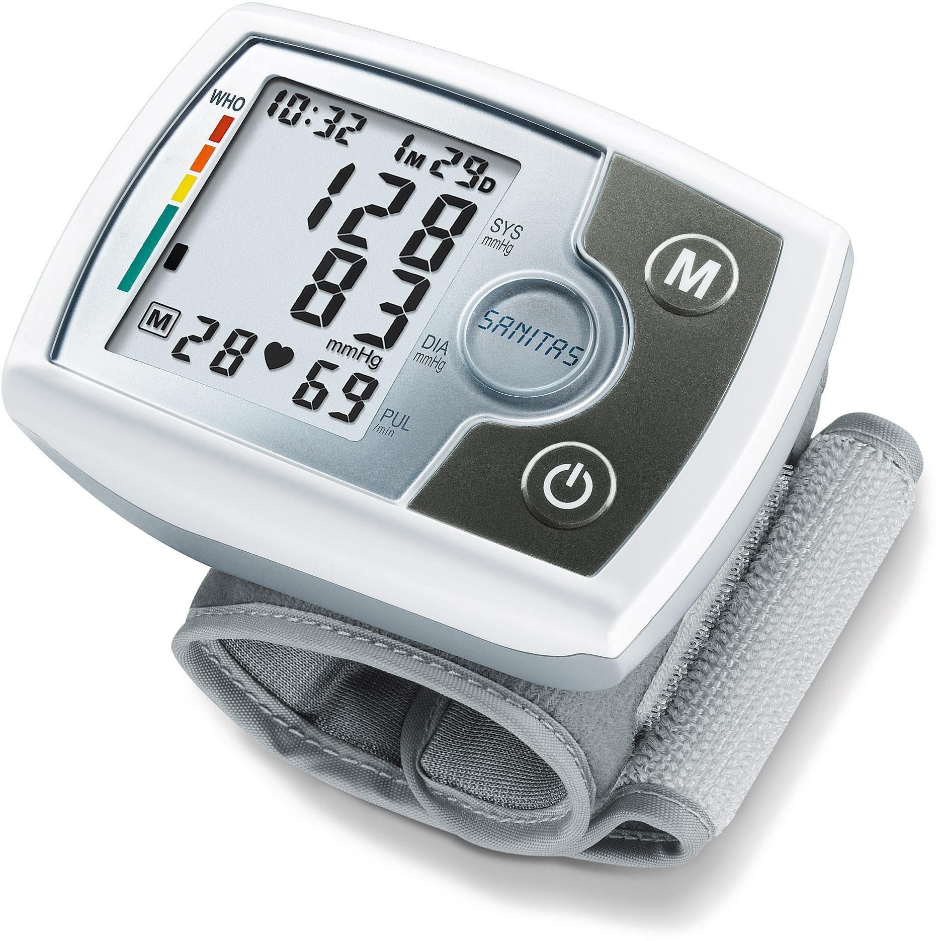 Sanitas Blutdruckmessgerät SBM 03, Vollautomatische Blutdruck- und Pulsmessung am Handgelenk