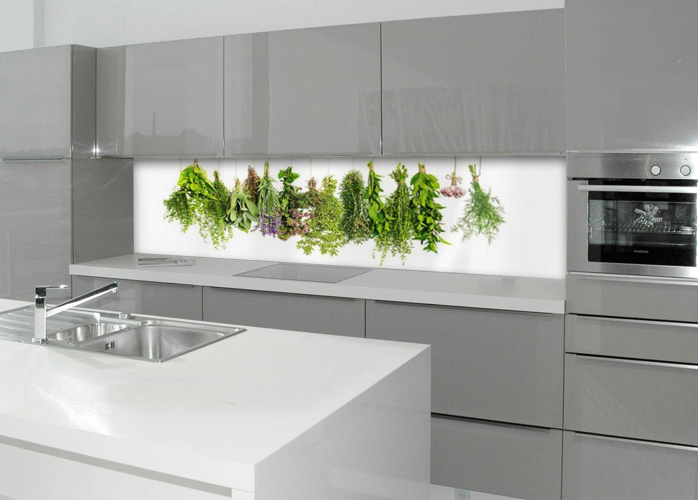 Küchenrückwand - Spritzschutz »profix«, Kräuterleine, 220x60 cm