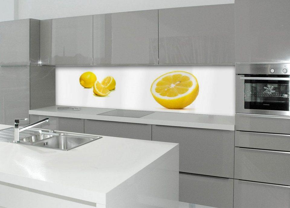 Küchenrückwand - Spritzschutz »profix«, Limone, 220x60 cm in gelb