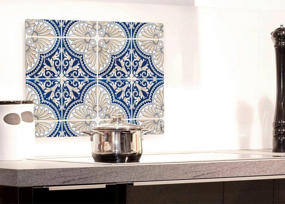 Küchenrückwand »pop«, Luis, 59x41 cm in blau
