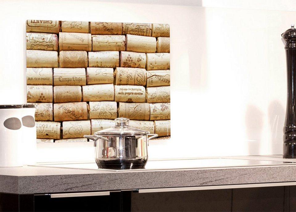 Küchenrückwand »pop«, Korken, 59x41 cm in natur
