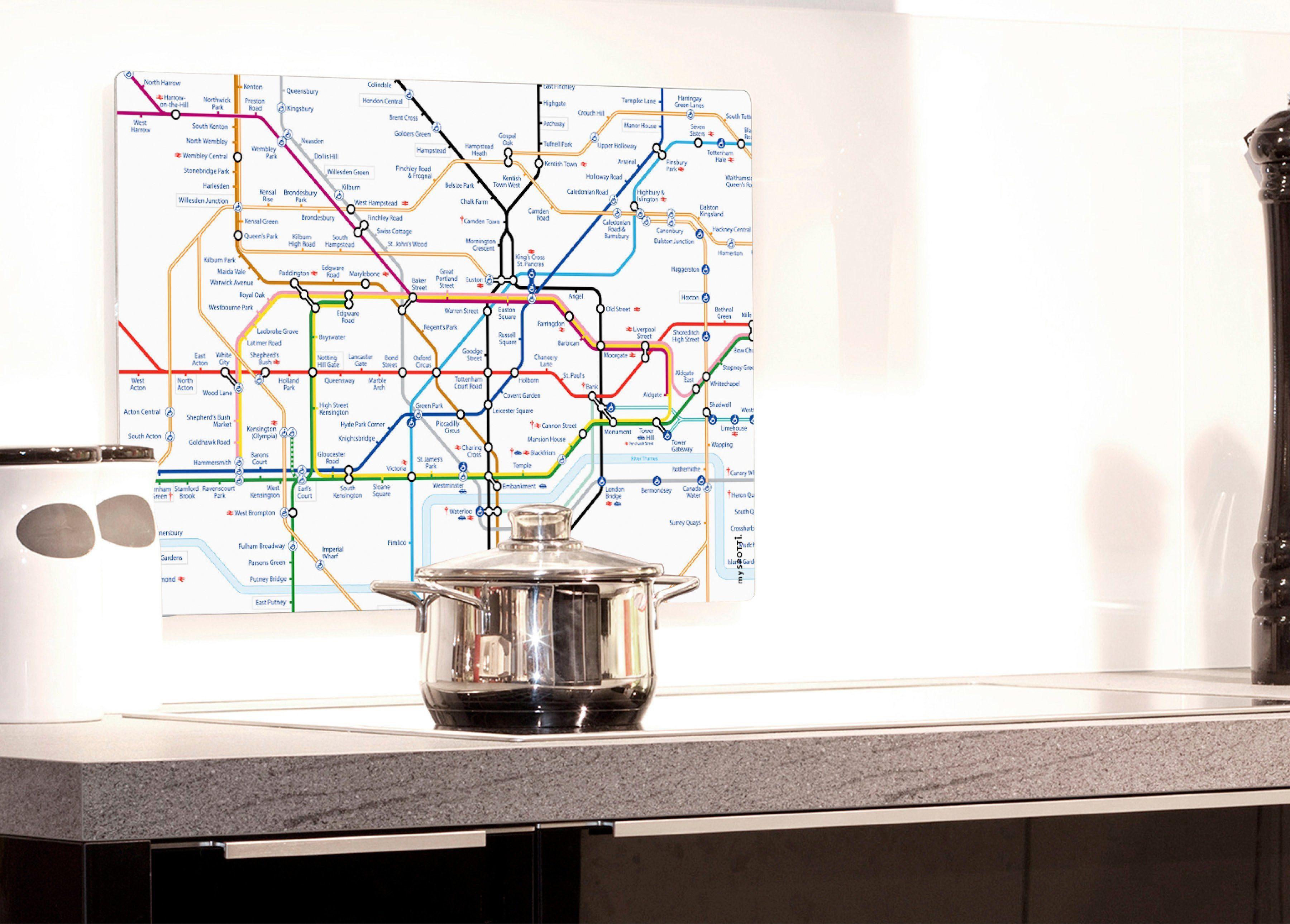 Küchenrückwand »pop«, Subway, 59x41 cm