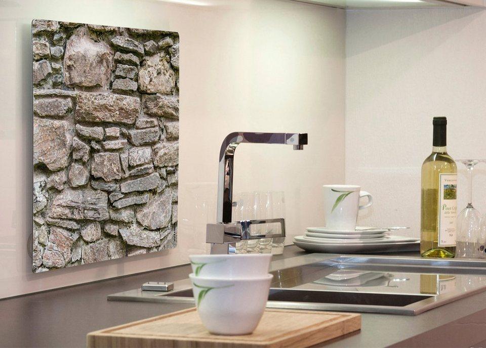 Küchenrückwand »pop«, Steinwand, 59x41 cm in grau