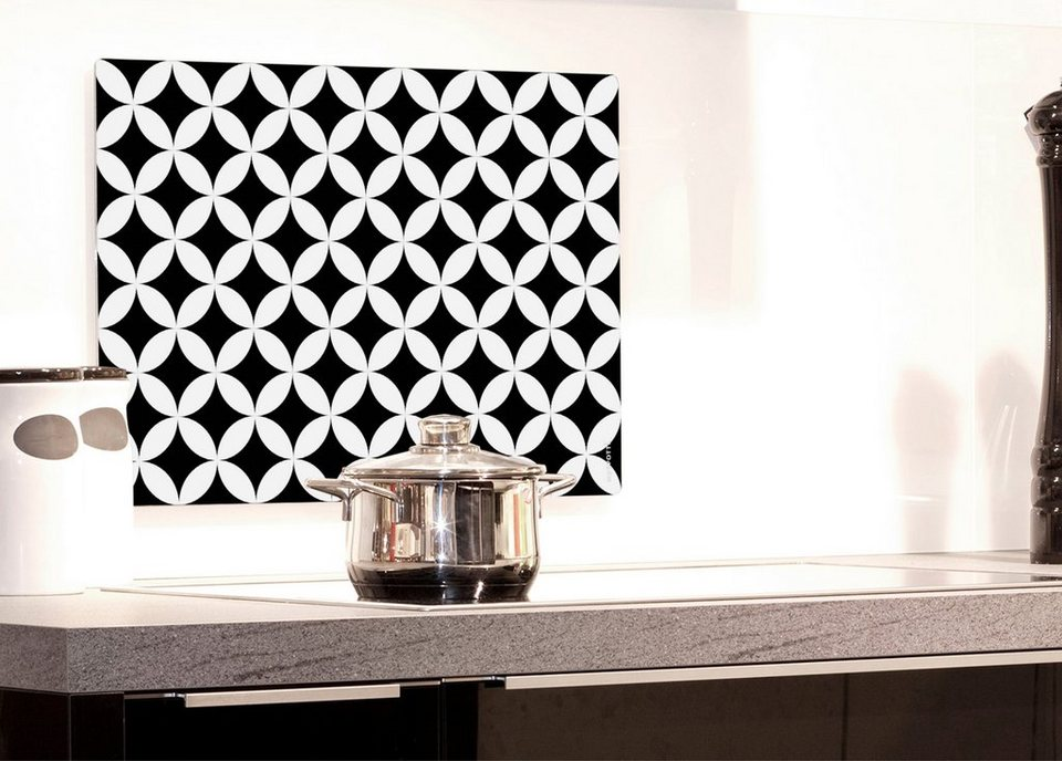 Küchenrückwand »pop«, Chadi, 59x41 cm in schwarz