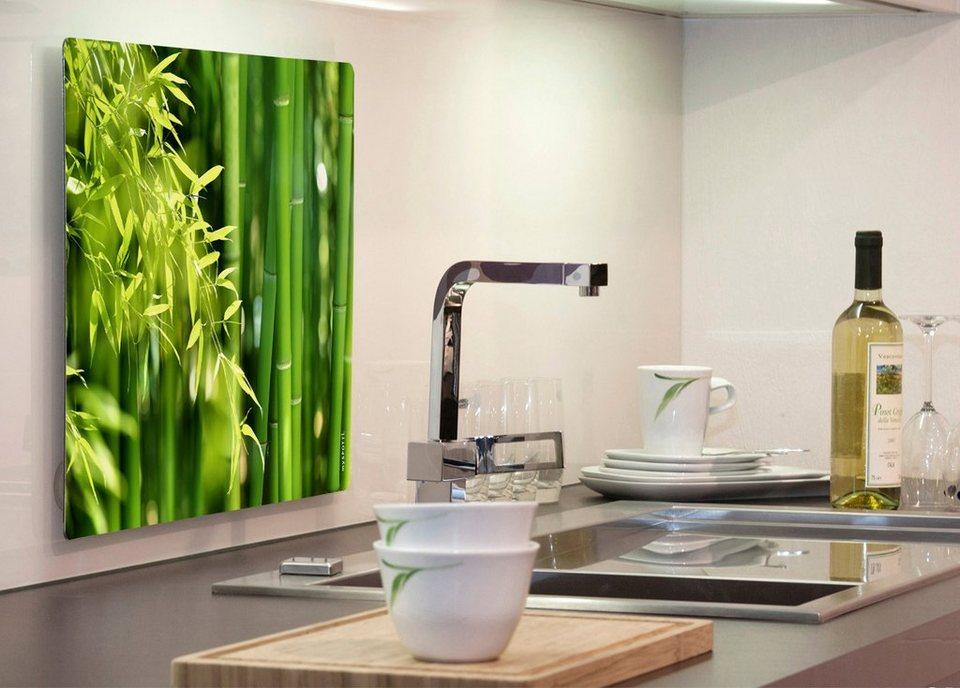Küchenrückwand »pop«, Bambus, 59x41 cm in grün