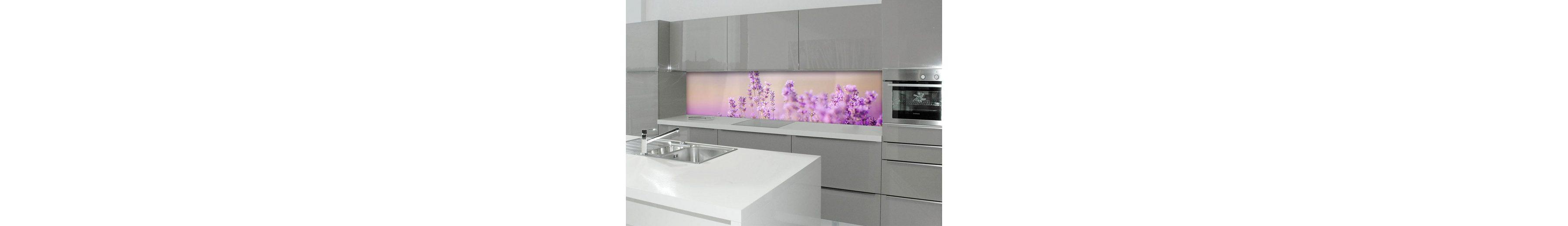 Küchenrückwand - Spritzschutz »profix«, Lavendelfeld, 220x60 cm