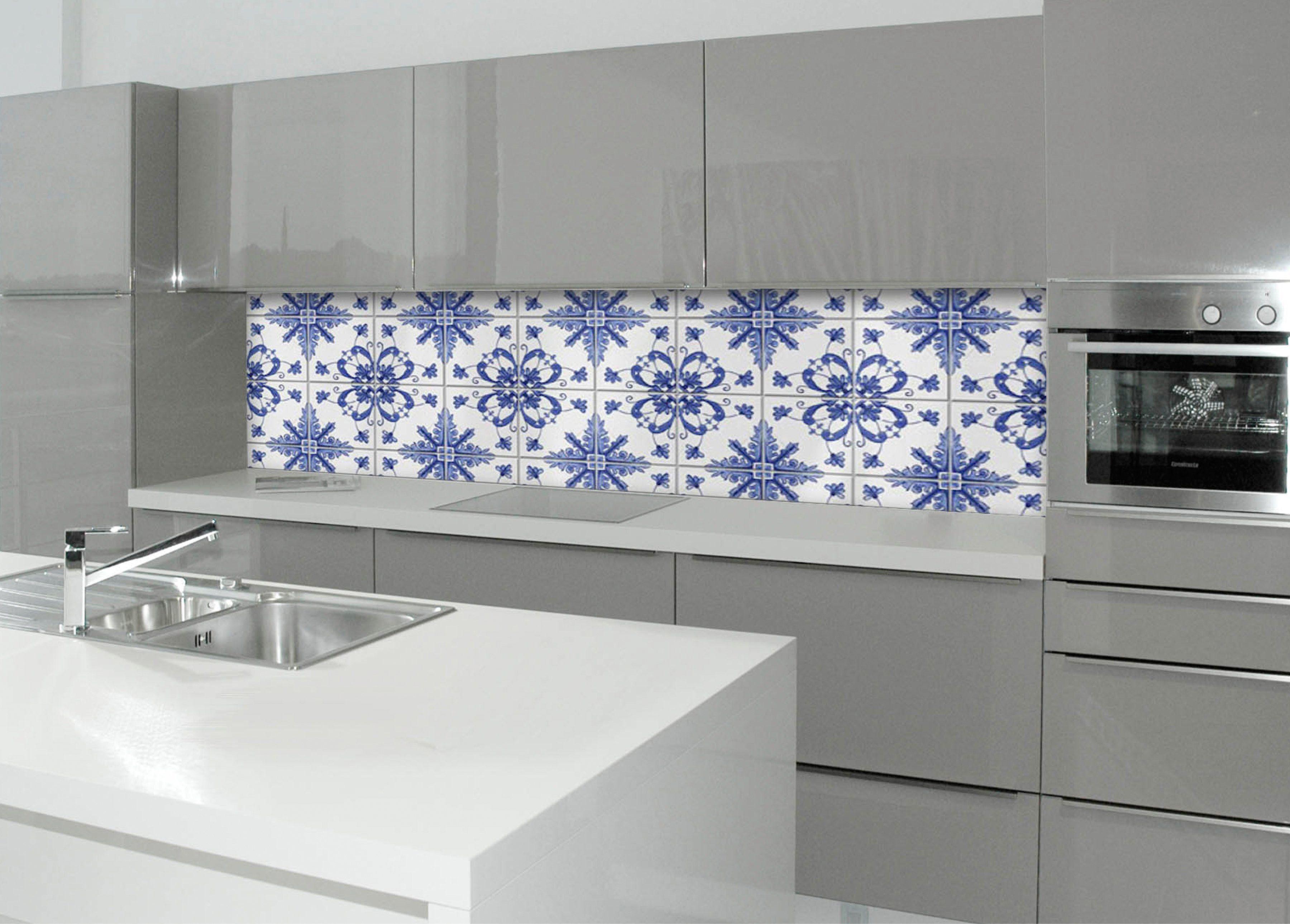 Küchenrückwand - Spritzschutz »profix«, Delfter Fliese, 220x60 cm
