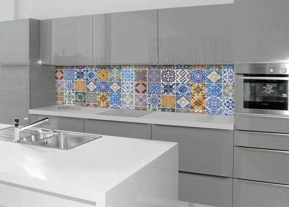 Küchenrückwand - Spritzschutz »profix«, Pablo Fliese, 220x60 cm in bunt