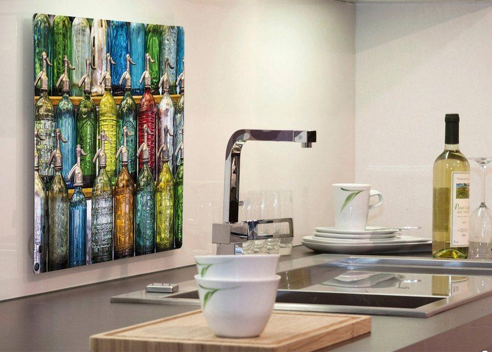 Küchenrückwand »pop«, Dispensers, 59x41 cm in bunt