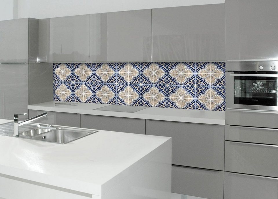 Küchenrückwand - Spritzschutz »profix«, Luis Fliese, 220x60 cm in blau