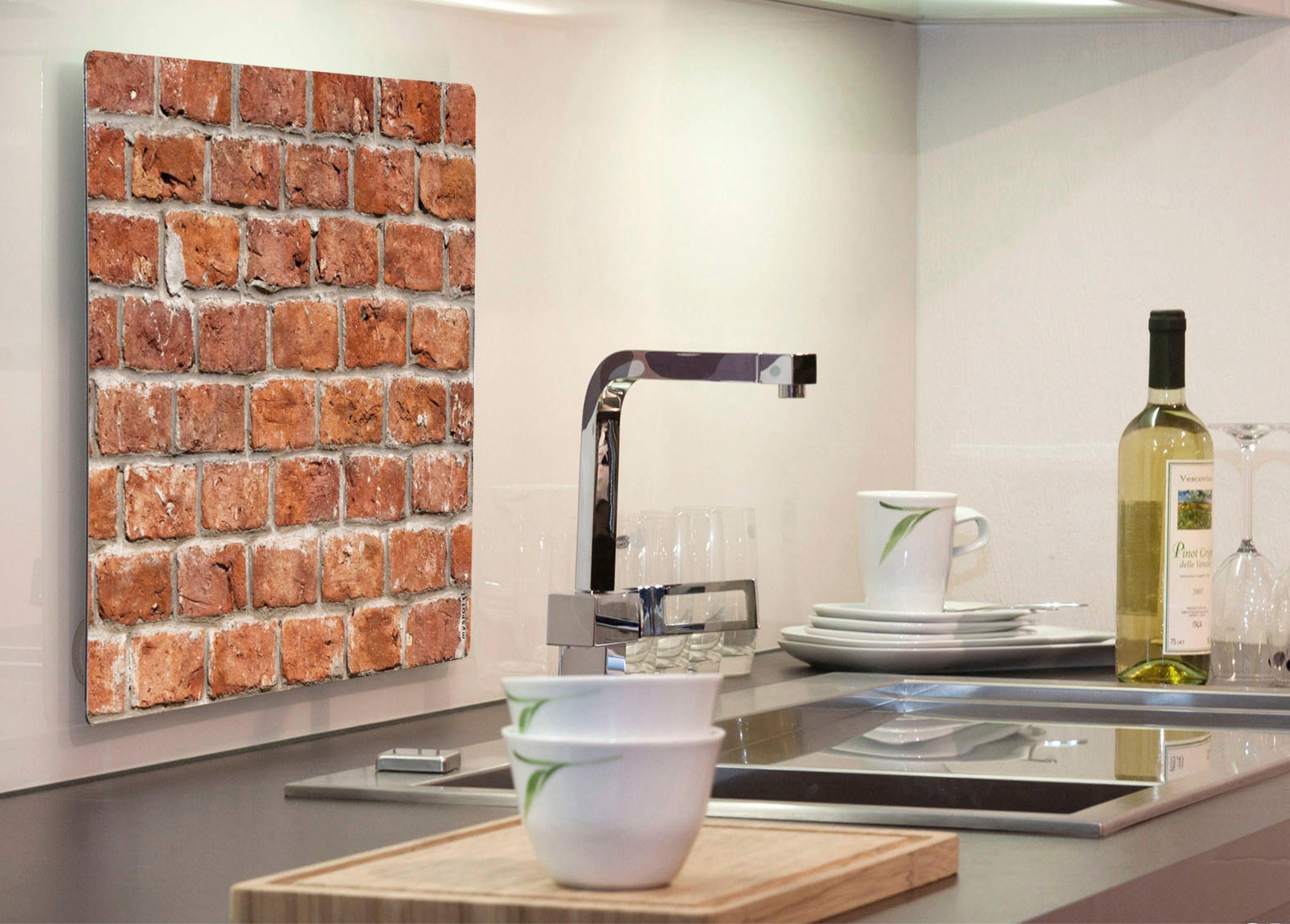 Küchenrückwand »pop«, Brickwall, 59x41 cm