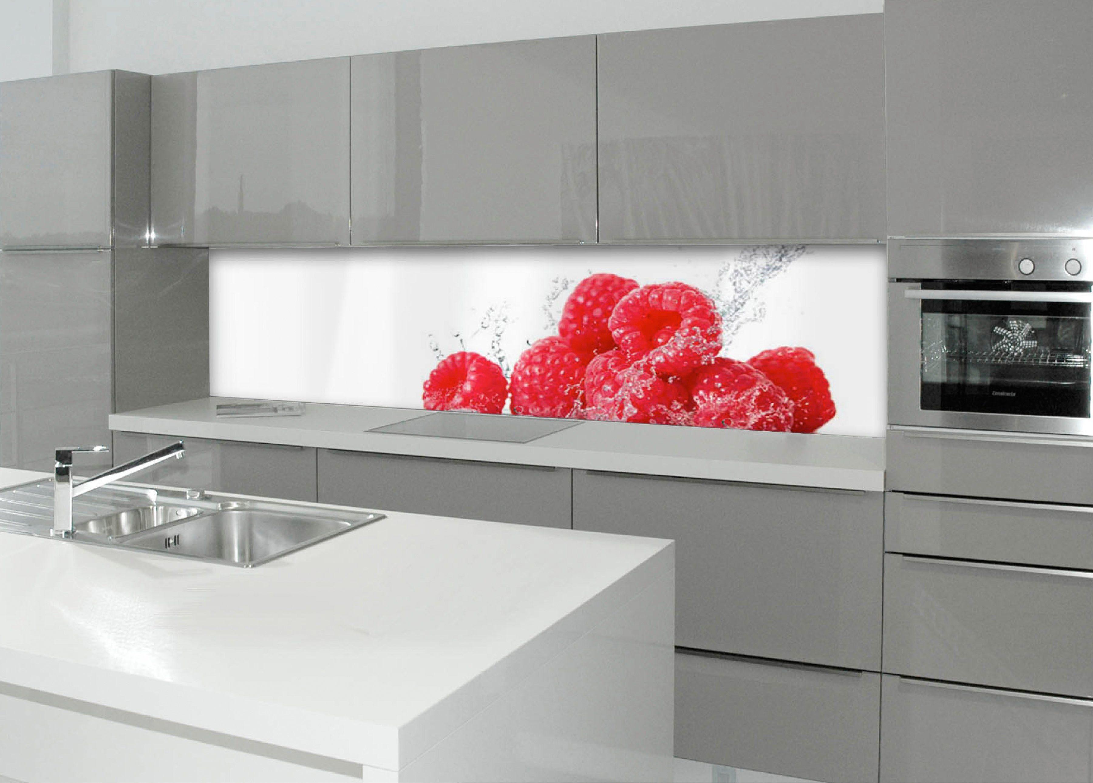 Küchenrückwand - Spritzschutz »profix«, Aqua-Himbeere, 220x60 cm