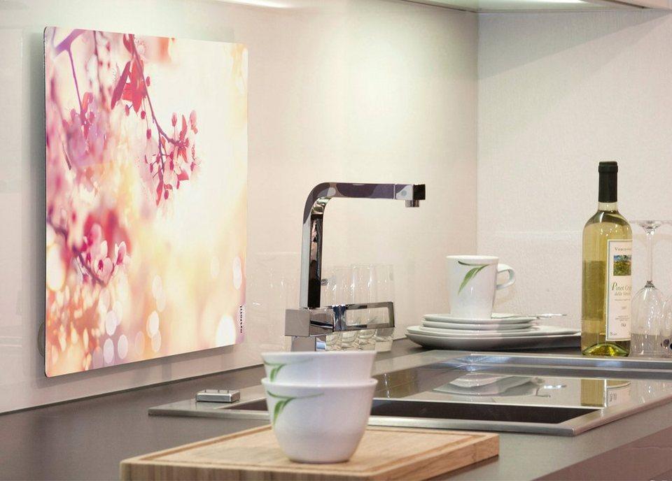 Küchenrückwand »pop«, Blütentraum, 59x41 cm in rosa