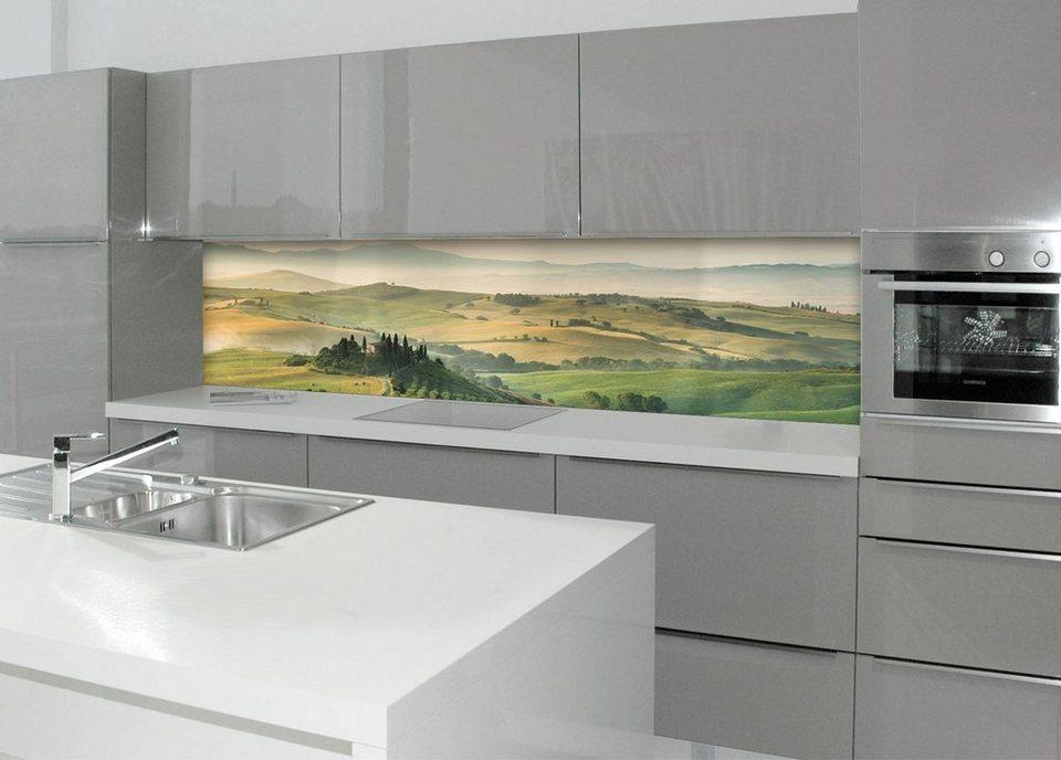 Küchenrückwand - Spritzschutz »profix«, Italien, 220x60 cm in grün