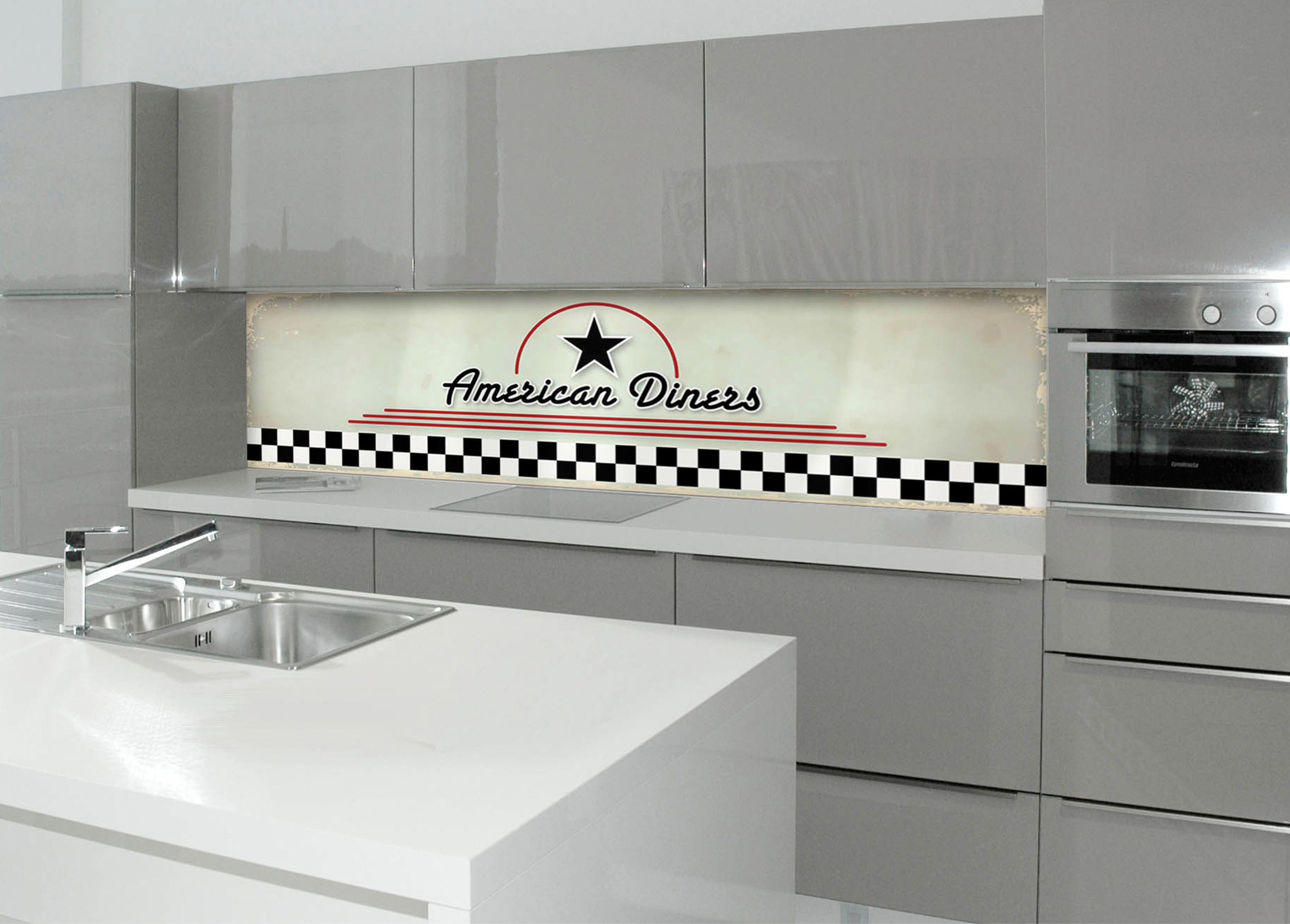 Küchenrückwand - Spritzschutz »profix«, American Diners, 220x60 cm