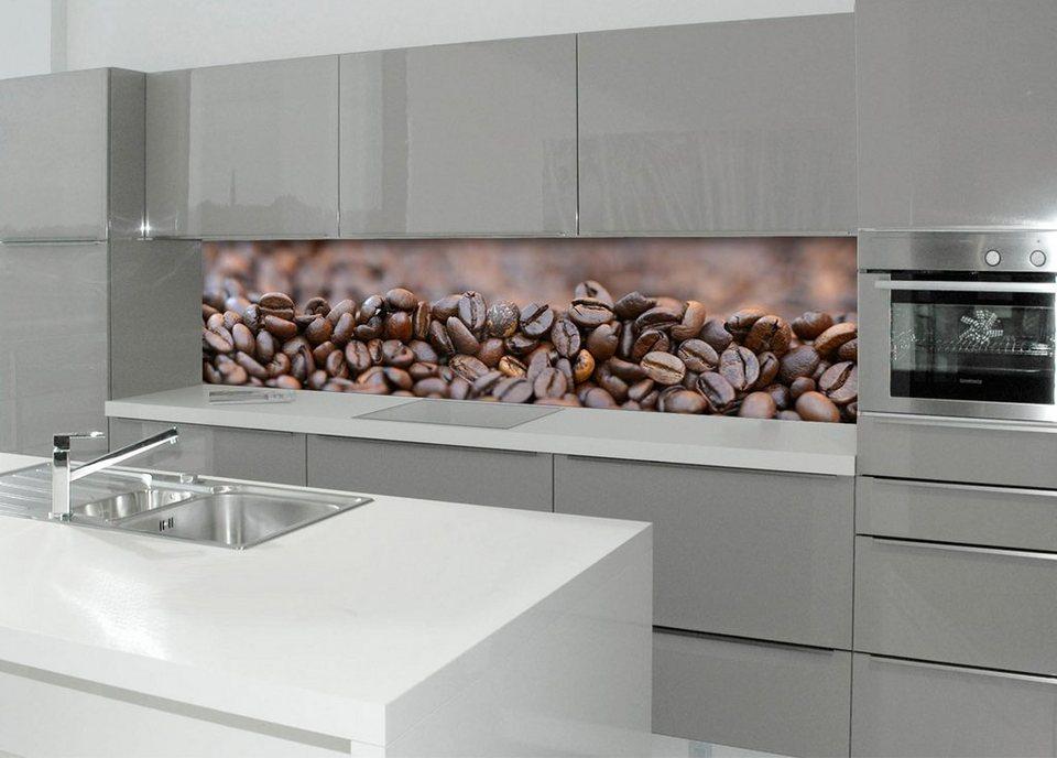 Küchenrückwand - Spritzschutz »profix«, Kafeebohnen, 220x60 cm in braun