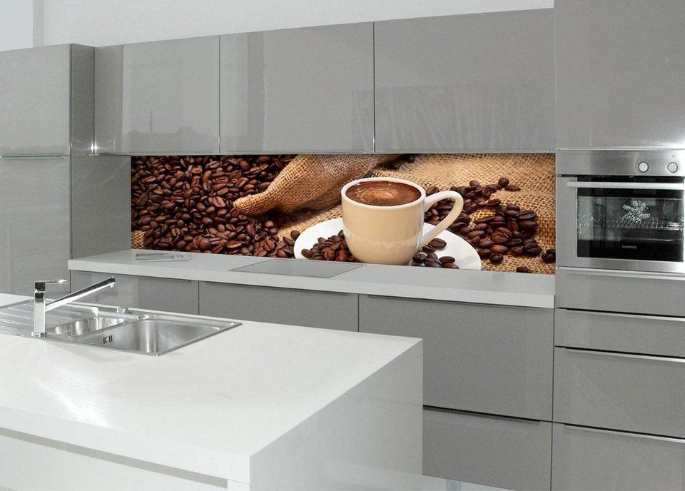 Kuchenruckwand Spritzschutz Profix Kaffeepause 220x60 Cm