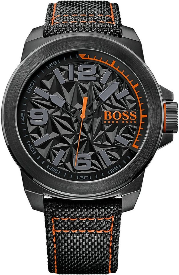 Boss Orange Armbanduhr, »NEW YORK, 1513343« in schwarz
