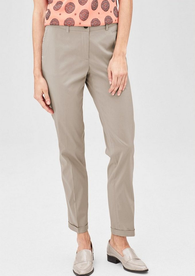 s.Oliver PREMIUM Easy: Stretchige Chino in sand glow