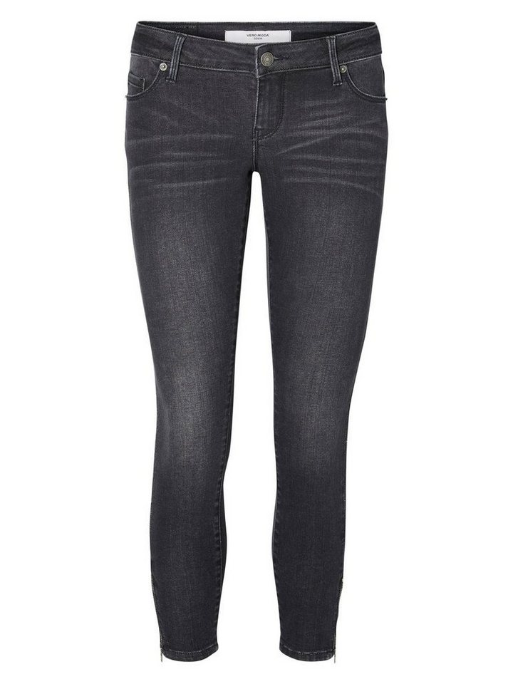 Vero Moda Five LW Knöchel- Skinny Fit Jeans in Black 1