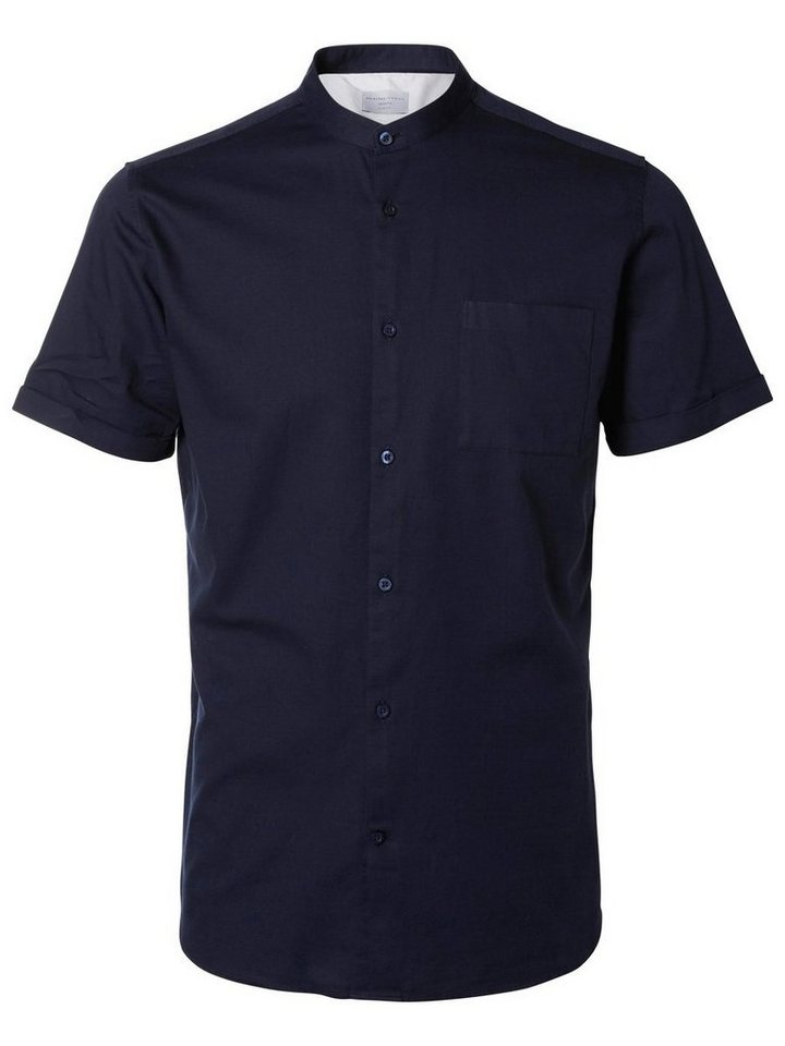 Selected Slim-Fit- Kurzarmhemd in Dark Sapphire
